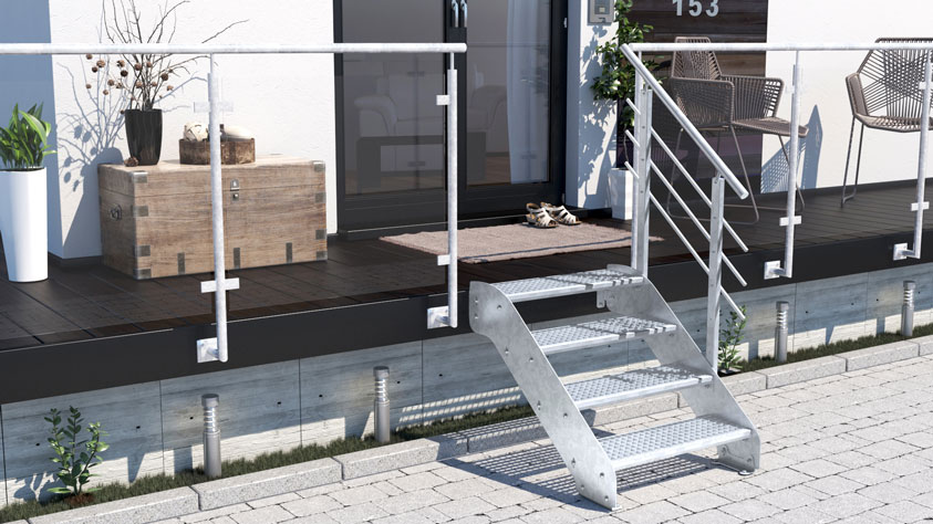 Treppen-Vision - Gartentreppe
