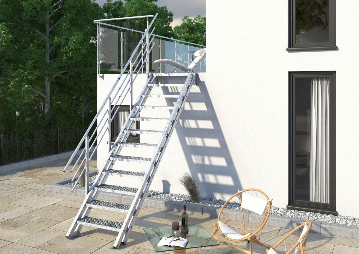 Treppen-Vision - Robuste Gitterrosttreppe
