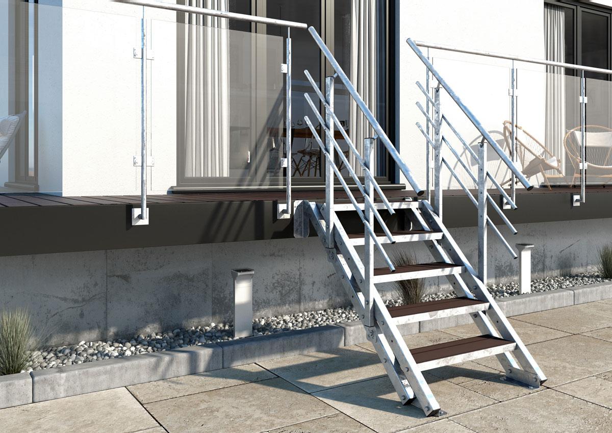 Treppen-Vision - Schöne Metalltreppe